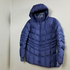 Lands End Kids Youth L 14 Blue Down Puffy Jacket